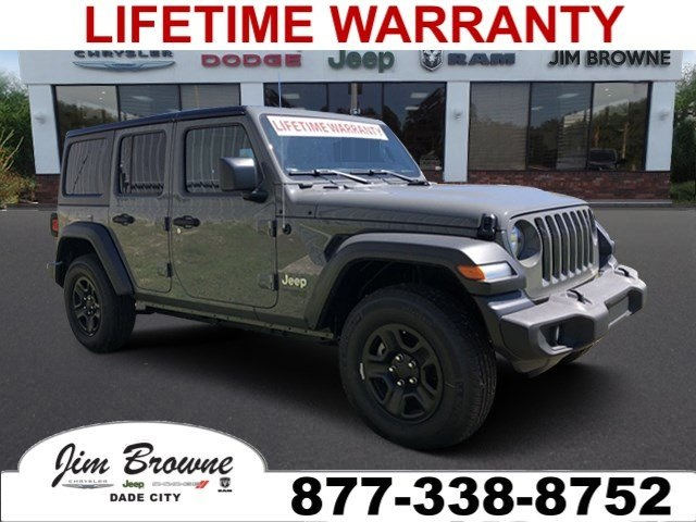 Jeep Wrangler Unlimited Sport >> New 2018 Jeep Wrangler Unlimited Sport Sport Utility In Tampa